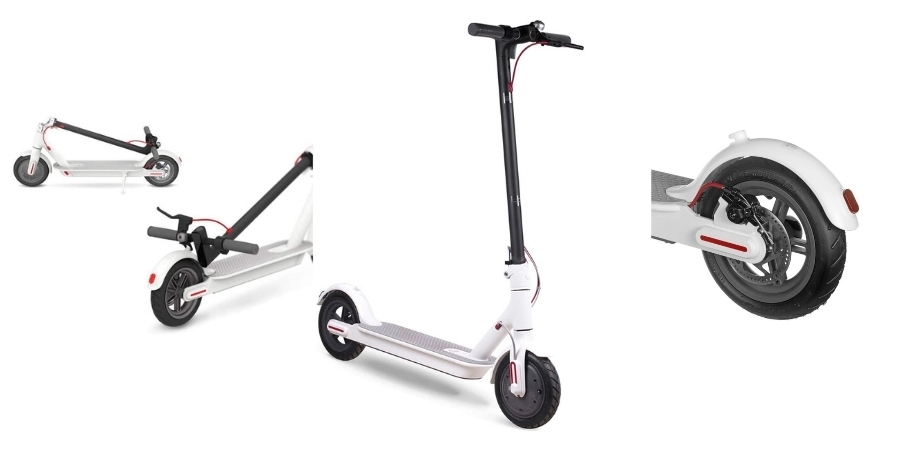 características comprar XIAOMI Mi Electric Scooter mijia M365 blanco freno trasero oferta